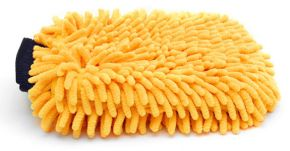 Gold Plush Chenille wash mitt